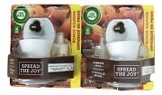 2x Sets Air Wick Pumpkin Spice Scented Oil 4 Refills And 2 Warmers Limited Edition