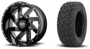 22x10 Moto Metal Mo988 Black Wheel And Tire Package 35 Fuel Mt 6x5.5 Chevy Gmc