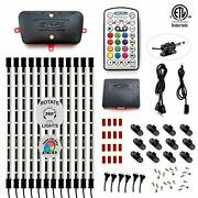 Rgb Led Multicolor Home Tv Accent Lighting Kit Under Cabinet, Etl, 12x 15 Inch