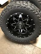 20 20x10 Fuel D567 Lethal Black Wheels 35 Mt Tires Package Toyota Tundra 5x150