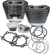 S And S Cycle Big Bore Kit 106in 07-17 Twin Cam Black Powder-coated - 910-0206