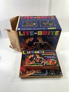 Vintage Lite Brite 1967 Hasbro In Box Number Accessory And Overlays Bundle Tested