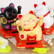 Fortune Cat Solar Power Lucky Waving Beckoning Chinese Japanese Money Good Lucky