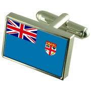 Fiji Flag Cufflinks With Select Gifts Pouch