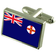 New South Wales Sterling Silver Flag Cufflinks