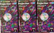 New Set Of 3 - Gemmy Outdoor Multicolor Light Show Christmas Holiday Projector
