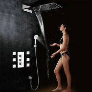 Rainfall Shower Head Wall Mounted Square Style Waterfall Shower Setandhandle Spray