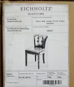 New Eichholtz Leather Office Guest Desk Chair Pair 2 Luxury High-end