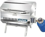 Trailmate Connoisseur Series Portable Propane Gas Barbecue Grill Stainless Steel