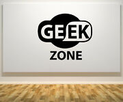 Geek Zone Sign Quote Motto Signage Wall Door Art Decal Sticker Picture Poster