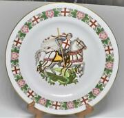 Spode China The England St George Slaying Dragon Y8259 10 1/2d Decor Plate