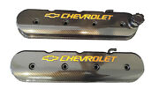 Valve Cover Ls Tall With Bowtie/chevy Logo 241-400 Carbon Fiber Hydro Dipp