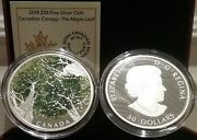 2018 Maple Leaf Canopy Canadiana 30 2oz Pure Silver 50mm Proof Coin Canada