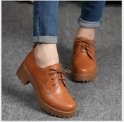 Best New Spring Womenand039s Fashion Flat Heel Leather Oxfords Shoes Casual Lace Up