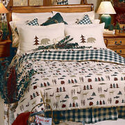 3-11 Pc Rustic Cabin Comforter Skirt Shams Bed In Bag Sheets Northern Exposure