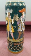 Large Decoration Beer Stien Ergo Bibamus Made In Germany 2545 16 1/2 Tall