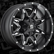 20x10 Fuel D567 Lethal Black Wheels 35 Mud Tire Package 8x170 Ford F250 F350