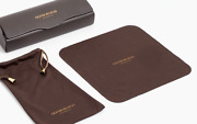 Brand New Oliver Peoples Hard Eyeglasses Case Glasses Brown Clamshell Cloth Rx S
