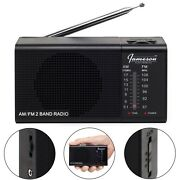 New Jameson Electronics Am/fm Portable Battery Operated Black Radio Transistor