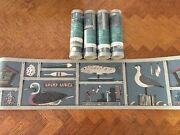 Craft Nautical New Wallpaper Border Pre-pasted Solid Vinyl Scrubbable 4 Roll Lot