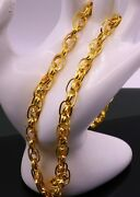 Real Gold Handmade Cable Chain Link Chain Unisex Men Women New Special Jewelry