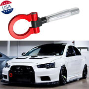 Red Track Screw On Tow Hook For 2008-2016 Mitsubishi Lancer Evolution Evo X 10