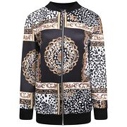 Ladies Womens New Print Casual Bomber Jacket Plus Size 14 16 18 20 22 24 26 28