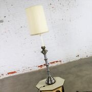 On Sale Stiffel Table Lamp Or Floor Lamp Mid Century Brass And Brushed Stainless