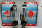 Rgn1404 Telefunken Tube Matched Pair Rectifier Mono-plate Nos Preamp Stereo 1930
