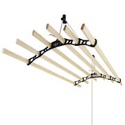 Clothes Airer Ceiling Pulley Maid Traditional Clothing Mounted Dryer 6 Lath Rack