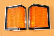 72 1972 El Camino Or Wagon Park Lamp Parking Light New Chrome Bezels And Lens
