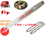 24 Chainsaw Bar And Chain 2 Ripping Chains Combo 3/8 0.058 84dl Husqvarna
