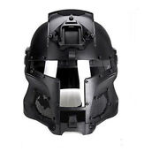Tactical Retro Medieval Iron Warrior Motorcycle Airsoft Helmet Mask Outdoor Us