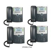 Cisco Spa508g 8-line Ip Phone With 2-port Switch Poe And Lcd Display 4-pack