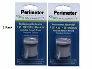 2 Pack Invisible Fence Compatible R21, R22 And R51 Dog Collar Battery