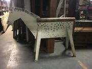 C1930-40 Wooden Saddle Shop Horse Stand Folk Art - Spotted Horse 64h X 78 X 22