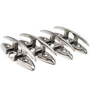 4 Pieces 6 Inch Flush Mount 316 Stainless Steel Pull Up Boat Cleat Flip Up Dock