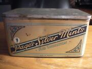 Vintage Advertising Tin Pageand039s Silver Mints Digestion England Store Display