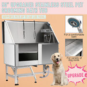 Pet Dog Cat Wash Shower Grooming Bath Tub Professional 304 Stainless Steel 50