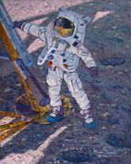 The First Human Footprint Sold Out Signed Limited Ed. Canvas By Alan Bean