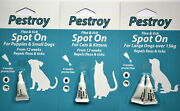 Pestroy Flea And Tick Treatment Spot On For Puppies Small Large Dogs Cat And Kitten