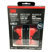 Pro-grade Adjustable Vented Noise Reducing Earmuff 90565 30nb, Red