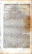 Newspaper - War Of 1812 - Battle Of Fort Oswego -erie Canal And Robert Fulton 1814