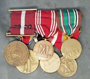 Wwii Coast Guard And Army Good Conduct, Medals Grouping Of 6 Medals.