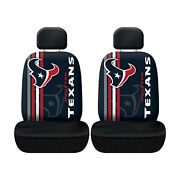 New Football Houston Texans Low Back Seat Covers Universal For Cars Suv - 4 Pc