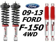 Rancho Front Quicklift Struts And Rs9000xl Rear Shocks For 09-13 Ford F-150 4wd