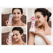 Inductive Charging 3 In 1 Electric Facial Scrubber Brush Ultrasonic Skin Cleaner