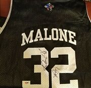 Karl Malone - Nba Hall Of Fame -true 1 Of A Kind- 2002 All Star Jersey - Psa/dna