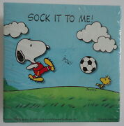 Sock It To Me Snoopy Playing Soccer 1970's Mint Sealed Mini Springbok Puzzle