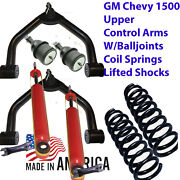 L Upper Lifted Control Arms Gm1988-98 Balljoints 2 Lift Coilsprings Shocks 2wd